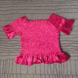 fuscia pink garterize offshoulder 💞