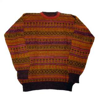 🚚 Fresh Loots / 古著 Vintage 義大利 立體條紋針織毛衣