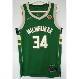 NBA Swingman Jersey Giannis Antetokounmpo Milwaukee Bucks #34 Green Nike Jersey