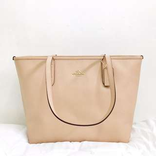 COACH CITY ZIP TOTE, Nude Pink, PHP 7,250