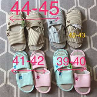 House shoes with PVC sole (6 pairs)