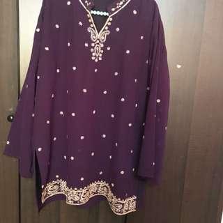 Dark Purple Royal Kurta