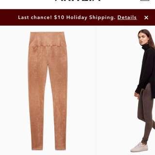 Suede leggings aritzia size xs