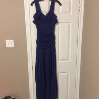 BCBG Maxazria Royal Blue Gown