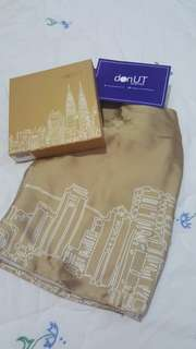 NEW & Never Used - Donut Scarf KL City in Gold #under90