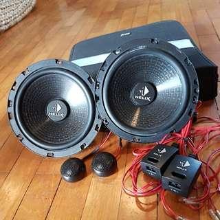 Helix b62c blue speakers