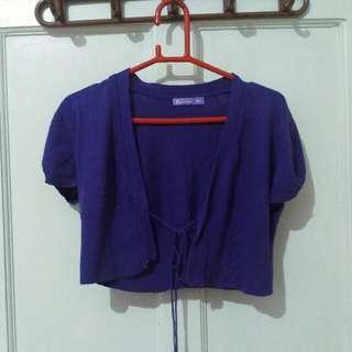 Crop Purple Cardigan