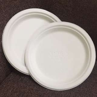 "Biodegradable Plate 9"" @1000pcs"