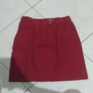 Red Vintage Skirt