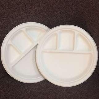 """Biodegradable Compartment Plate 10"""" @1000pcs"""