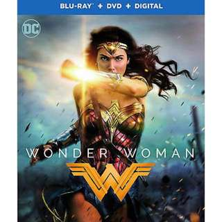 Brand New Blu-ray DVD Wonder Woman Movie Bluray - free normal postage