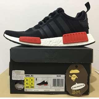 NMD R1 BRED [Black / Red / White] [BB1969] **ORIGINAL** **AUTHENTIC**