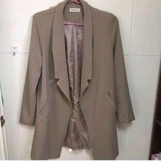 🚚 開襟 修身 西裝外套 #風衣