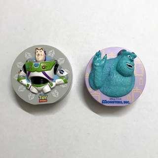 🚚 全家 紙膠帶 皮克斯 集點 玩具總動員 巴斯 怪獸電力公司 毛怪 CARS 閃電麥坤 兒童 玩具 收藏 二手