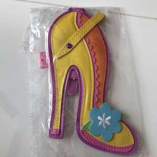 Fluff Yellow high heel luggage tag