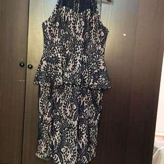 Doublewoot Royal Blue Peplum Dress