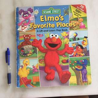 Elmo's Favorite Places - Lift & Learn Flap Book