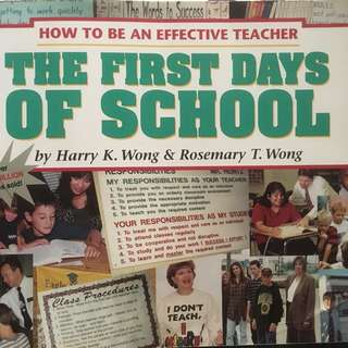 The First Days if School - How To Be An Effective Teacher