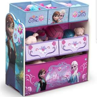 Kids Toy Shelf Disney Frozen Theme Toy Rack Toy Storage Kids Girls Organizer