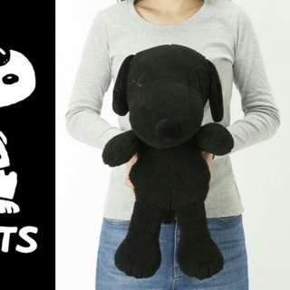 Kaws x Peanut Large Snoopy Plush Doll Black