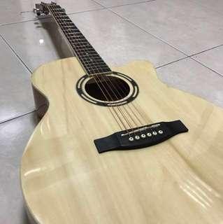 免運!原木色吉他 非常好彈 音色很棒 買就送全套
