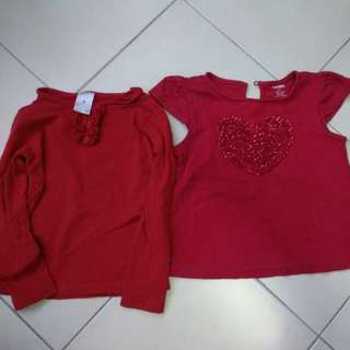 Red Gymboree top blouse (bundle)