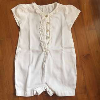 Chateau De Sable white romper