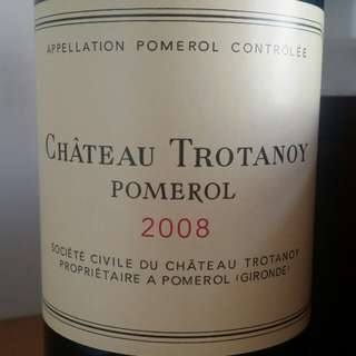 Chateau Trotanoy 2008, Pomerol, France, Red Wine