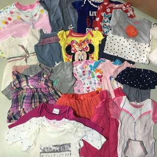 Mix clothes for baby girl