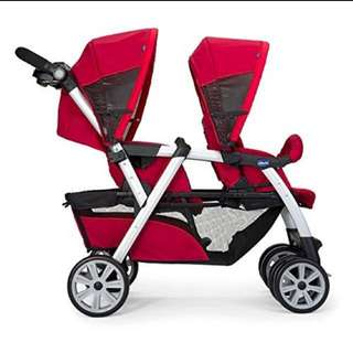 CHICCO TWIN STROLLER TOGETHER