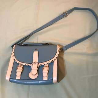 Scallop Satchel Bag