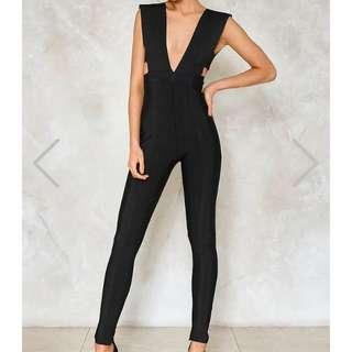 Cut out black jumpsuit