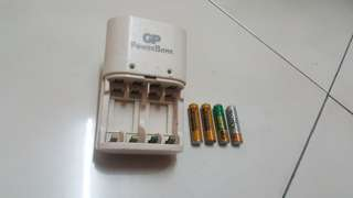 GP brand Rechargeable battery and charger