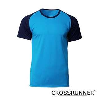 CRR1702 Crossrunner Charge Tee - Sapphire/Navy