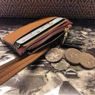 Card holder with coins bag