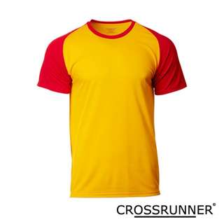 CRR1701 Crossrunner Charge Tee - Gold/Red