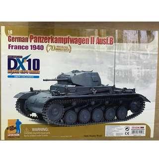 全新1比6威龍絕版二戰德國灰坦克2號戰車未開封連紙皮箱