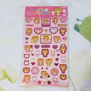 ($3) Japanese Bear Stickers