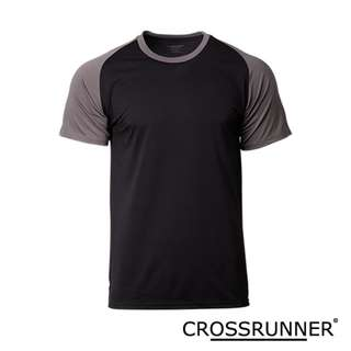 CRR1704 Crossrunner Charge Tee - Black/Charcoal