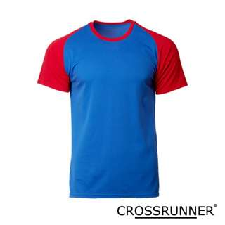 CRR1705 Crossrunner Charge Tee - Royal/Red
