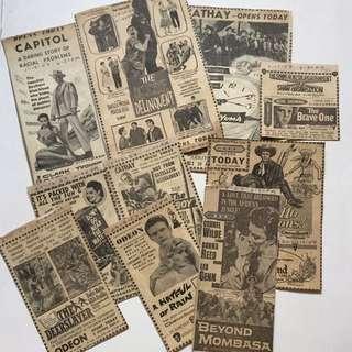 老电影旧戏票