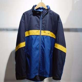 🚚 Fresh Loots / 古著 NIKE 90's 鋪棉運動外套 Vintage 藍黃配色