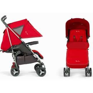 Silver Cross Reflex Red Baby Toddler Stroller Pram Light Umbrella Fold