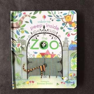 💥NEW - Usborne Peep inside - Zoo -  Children Story Books