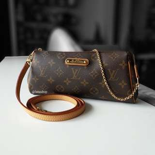 Authentic Louis Vuitton Monogram Eva Clutch LV