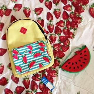 ransel semangka / watermelon ransel