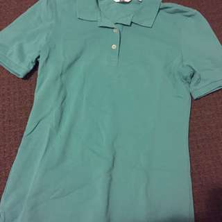 Uniqlo Teal Blue Polo Tee