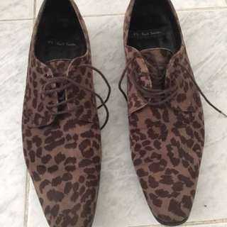 (size 7) Paul Smith Leopard printed shoes