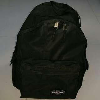 EastPak Backpack Bag, Padded Pak'r Black, Compact Laptop Protection, 30L Jumbo Big Size Storage, Rare model with 2 ample side pockets,