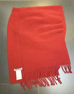 ISSEY MIYAKE red scarf